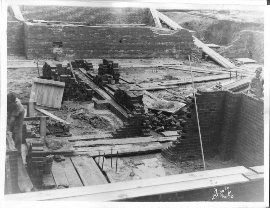 01_September 4 1931_LookingSouthwest_PostOfficeConstruction_LintonIndiana
