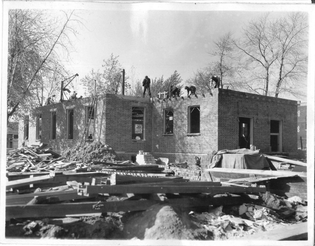 10_November 2 1931_LookingNorthwest_PostOfficeConstruction_LintonIndiana
