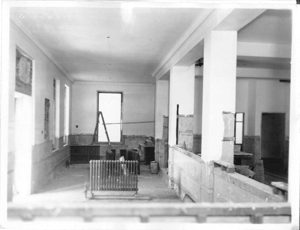 18_February 29 1932_ViewOfPublicLobby_PostOfficeConstruction_LintonIndiana