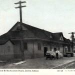 Depot, Chicago Terre Haute & SE, Linton fm